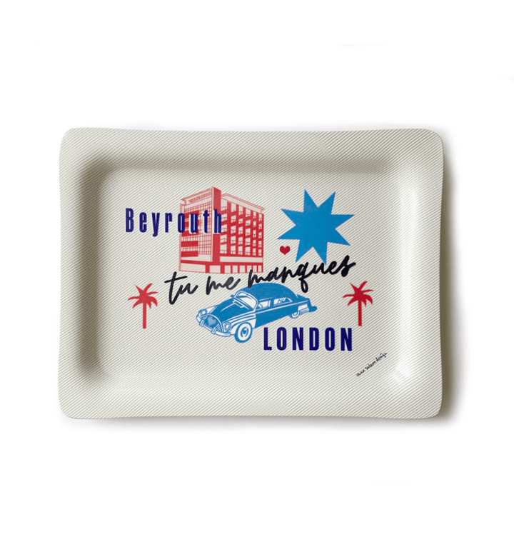 'Tu me Manques' LONDON BEYROUTH | Tray