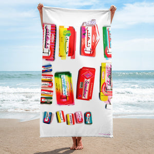 Chiclets Beach Towel