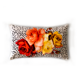 Bouquet with Black Polka Dots | velvet cushions