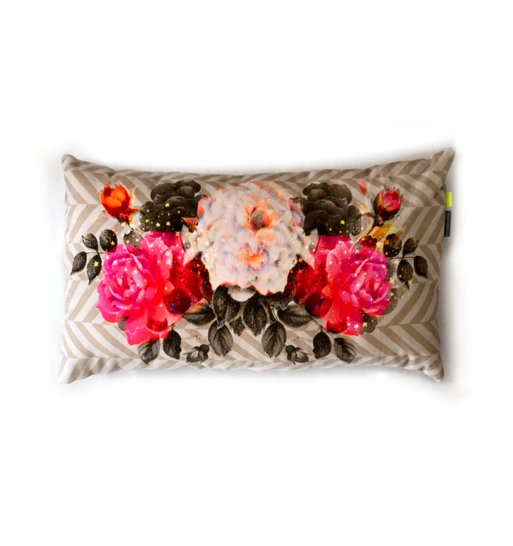 Damascene flowers 2 | velvet cushion
