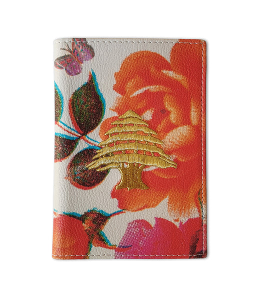 Damasene Flowers | Passport holder
