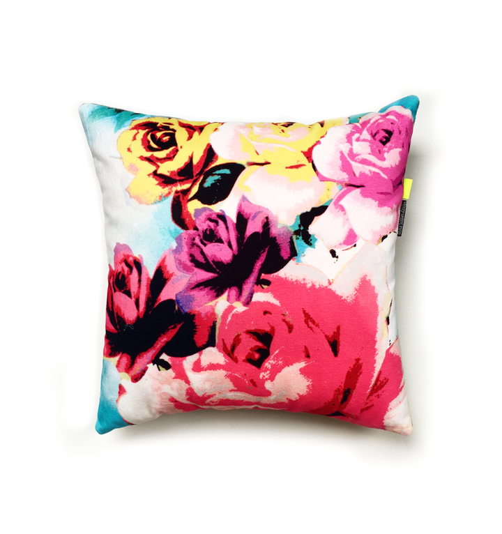Flowers and Roses | velvet cushion