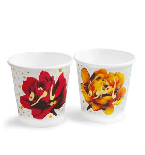 Stars & Roses  | Set of 40 Paper-cups