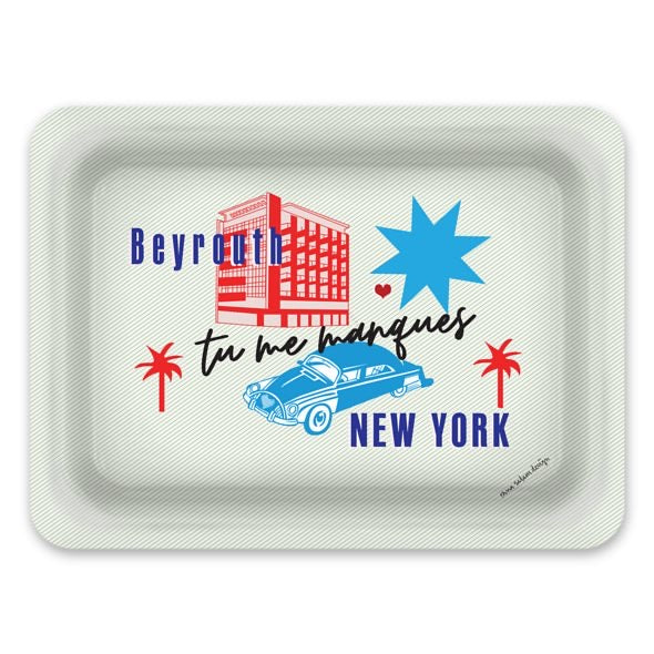 'Tu me Manques' New York BEYROUTH | tray