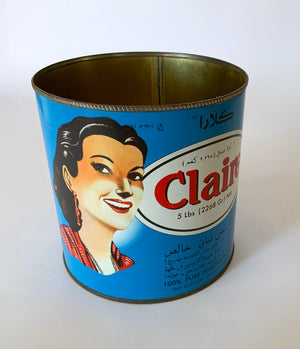 Kuwaiti Corn oil tin box