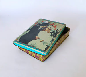 Wedding Biscute Tin Box 1950s