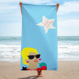 The Star of the Middle East Um Kulthum beside the beach! Summer is here let tan. Beach towels collection by Rana Salam Shop