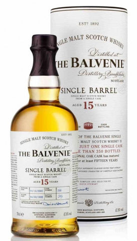 The Balvenie 15 year Single Barrel