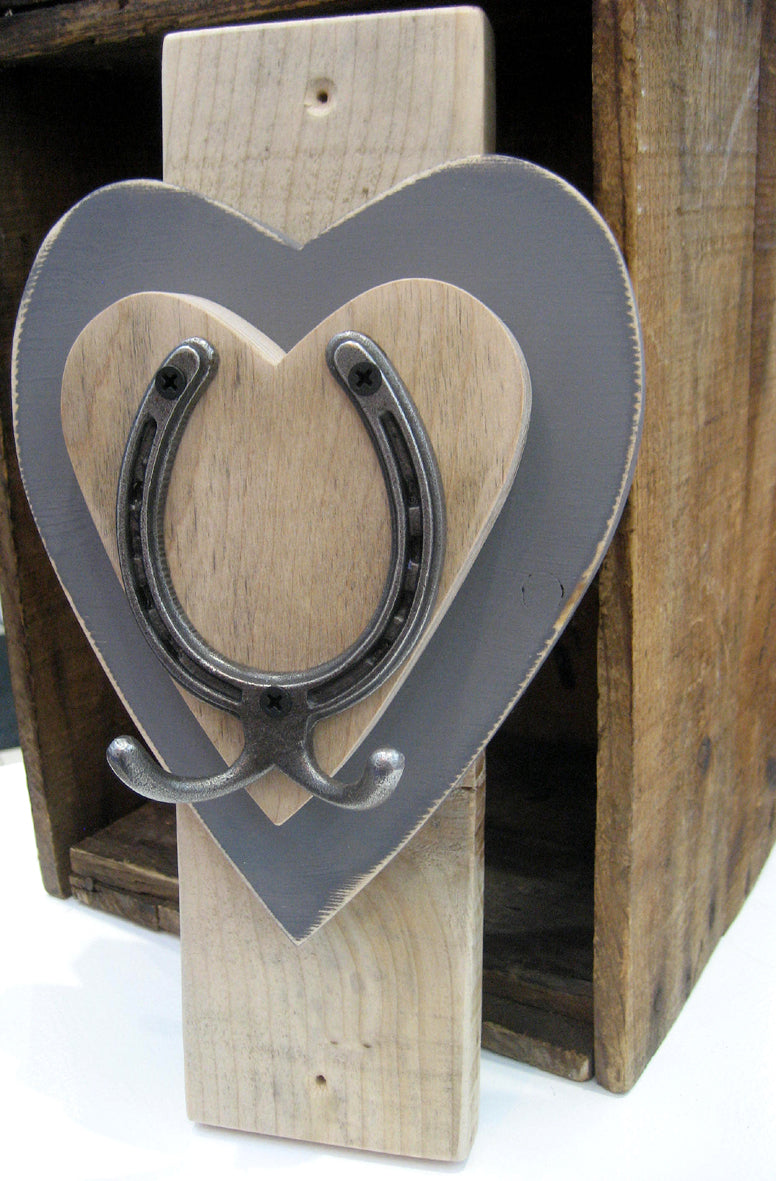 Vertical Horseshoe Hook - Dark Grey
