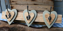 Load image into Gallery viewer, Triple Heart Hook - Olive