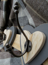 Load image into Gallery viewer, Double Heart Hook - Dark Grey