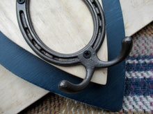 Load image into Gallery viewer, Horizontal Horseshoe Hook - Navy Blue