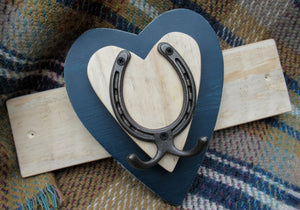 Horizontal Horseshoe Hook - Navy Blue