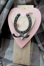 Load image into Gallery viewer, Vertical Horseshoe Hook - Pink