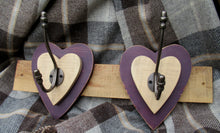 Load image into Gallery viewer, Double Heart Hook - Purple