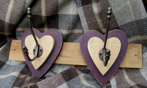 Double Heart Hook - Purple