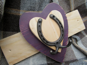 Horizontal Horseshoe Hook - Purple