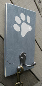 Single Paw Print - Dark Grey