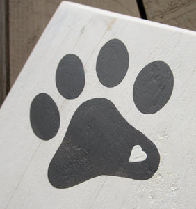 Single Paw Print - Cotton White