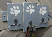 Load image into Gallery viewer, Triple Paw Print Hook - Dark Grey