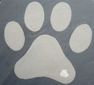 Triple Paw Print Hook - Dark Grey
