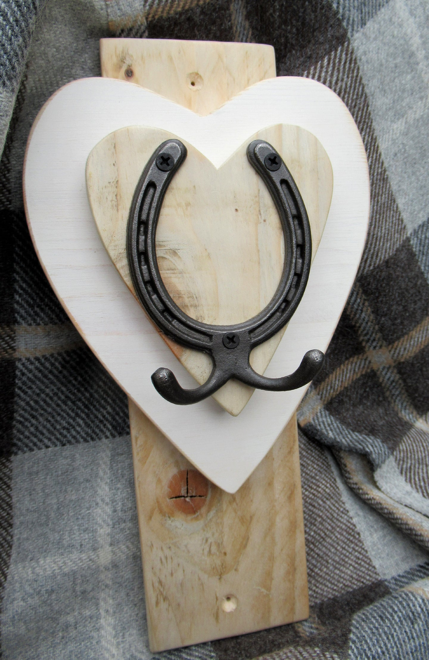 Vertical Horseshoe Hook - Cotton White