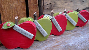 Wooden 'Thank You' Apples