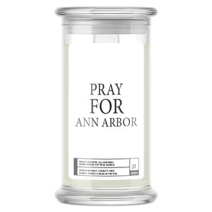 Pray For Ann Arbor Candle