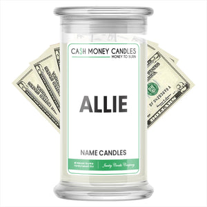 ALLIE Name Cash Candles