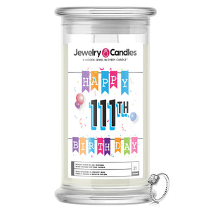 Happy 111th Birthday Jewelry Candle