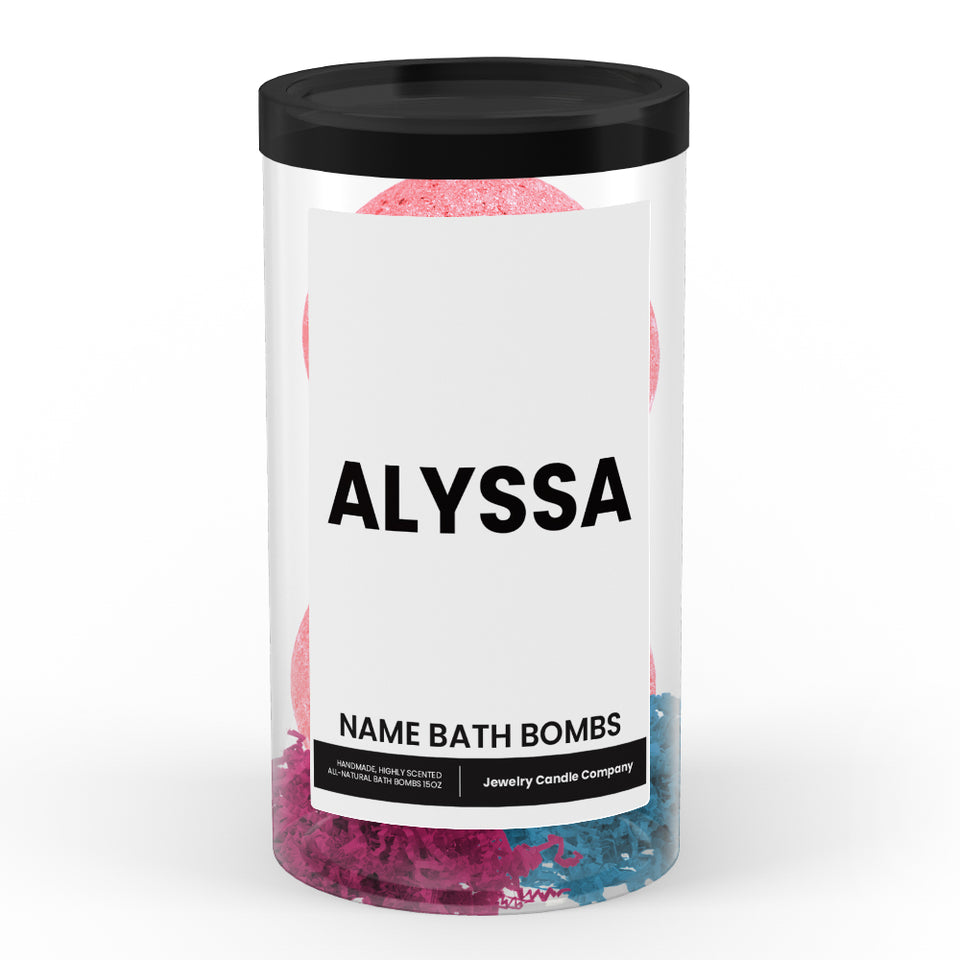 ALYSSA Name Bath Bomb Tube