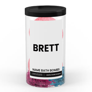 BRETT Name Bath Bomb Tube