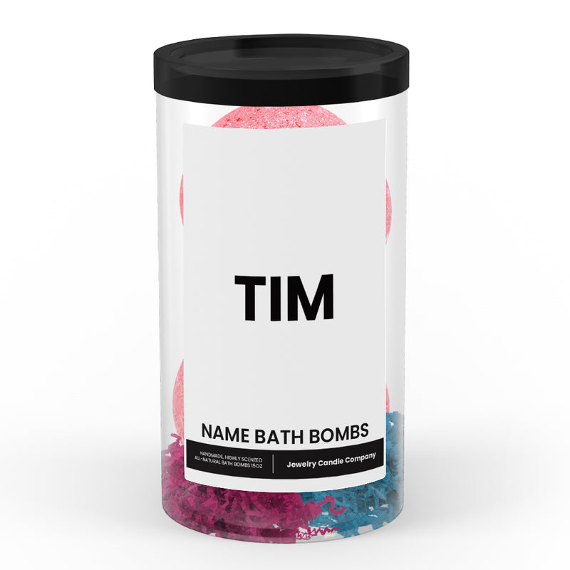 TIM Name Bath Bomb Tube