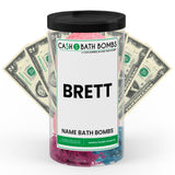 BRETT Name Cash Bath Bomb Tube