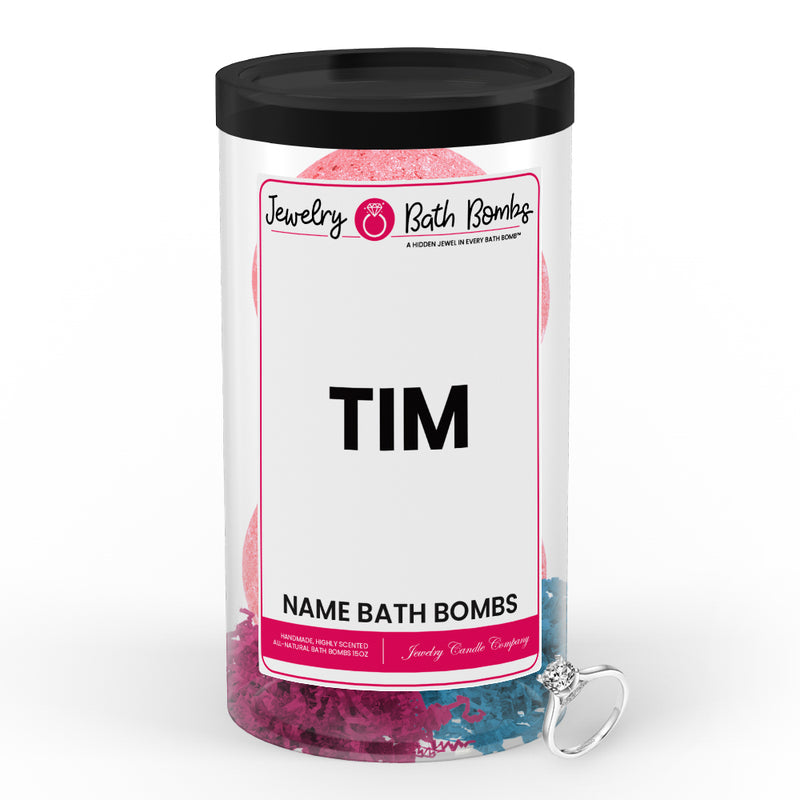 TIM  Name Jewelry Bath Bomb Tube