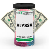 ALYSSA Name Cash Bath Bomb Tube