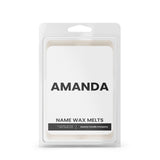 AMANDA Name Wax Melts