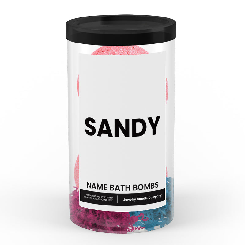 SANDY Name Bath Bomb Tube
