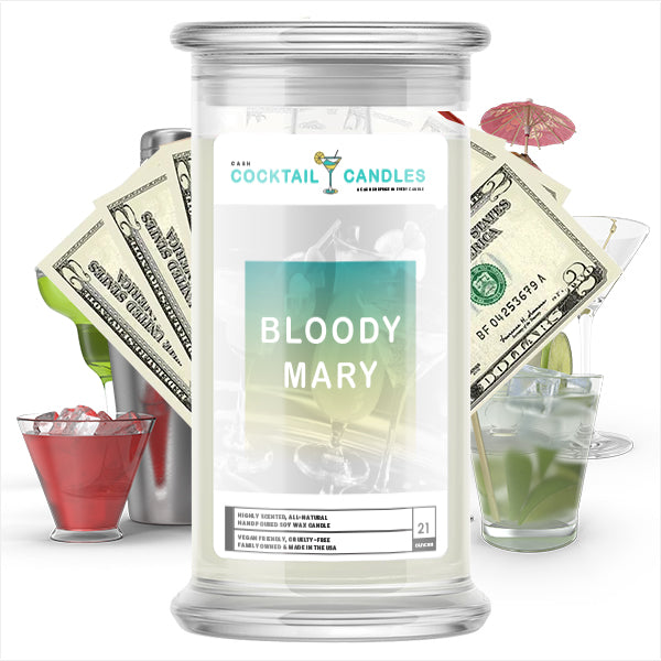 Bloody Mary Cocktail Cash Candle