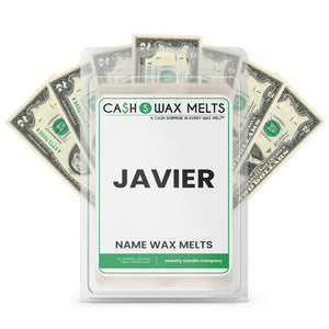 JAVIER Name Cash Wax Melts