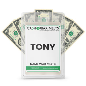 TONY Name Cash Wax Melts