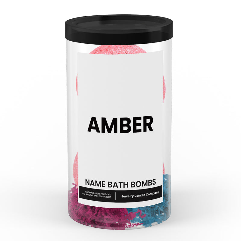 AMBER Name Bath Bomb Tube
