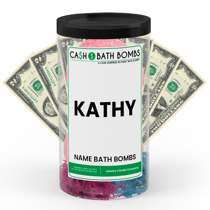 KATHY Name Cash Bath Bomb Tube