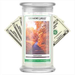 Autumn Leaves Cash Money Candles