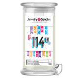 Happy 114th Birthday Jewelry Candle