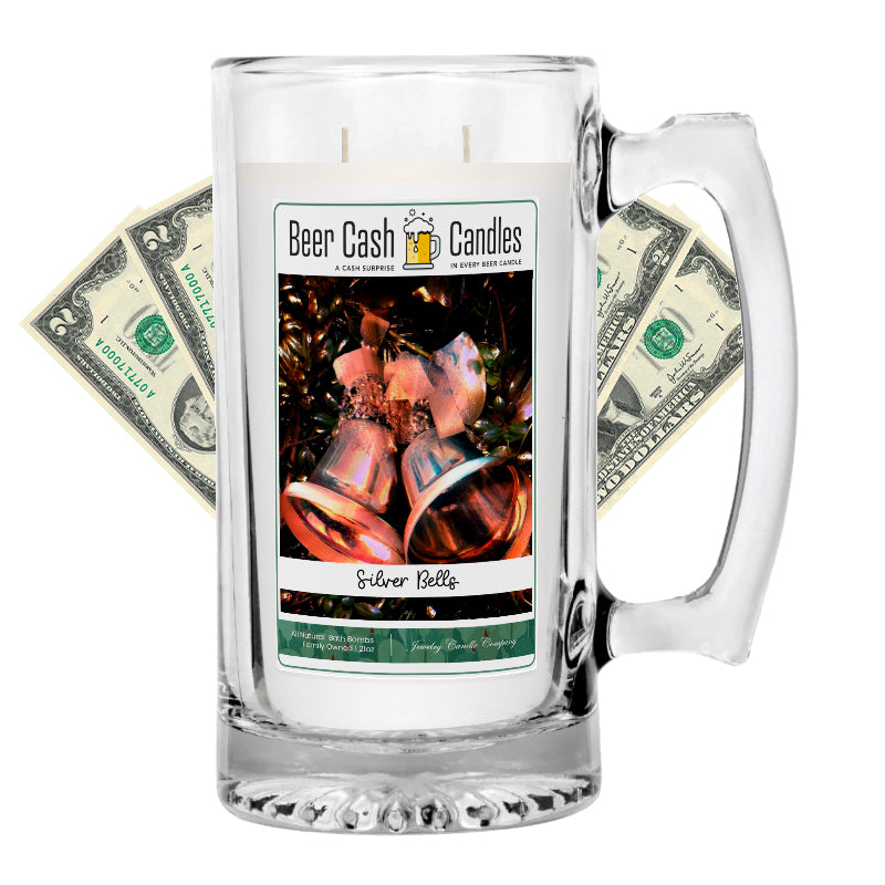 Silver Bells Beer Cash Candle