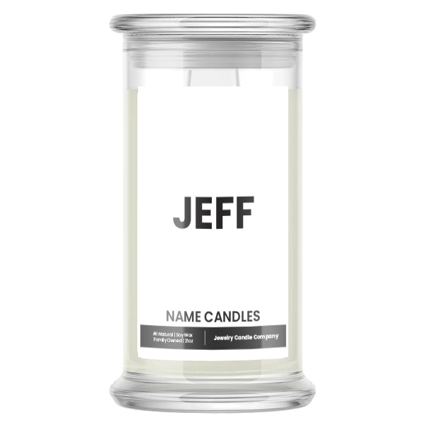 JEFF Name Candles