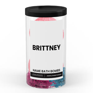 BRITTNEY Name Bath Bomb Tube