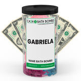 GABRIELA Name Cash Bath Bomb Tube