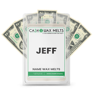 JEFF Name Cash Wax Melts